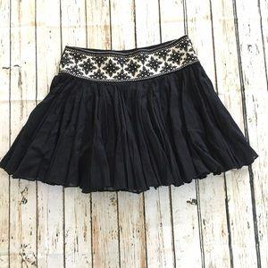 Free People mini skirt black sz. XS
